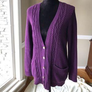 American Eagle Purple Cardigan EUC
